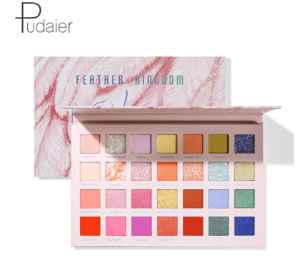 pudaier cosmetics profesionalna sminka - paleta sjenila feather kingdom 2